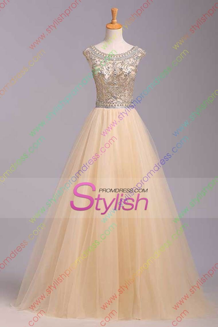 2015 Big Clearance Sale Scoop A-Line Prom Dress Floor ...