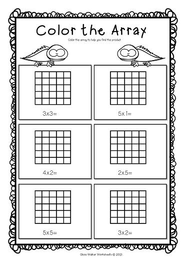 Arrays Worksheets Grade Two Math Standard First Multiplication Printables Array Worksheets Array Math Math Worksheets