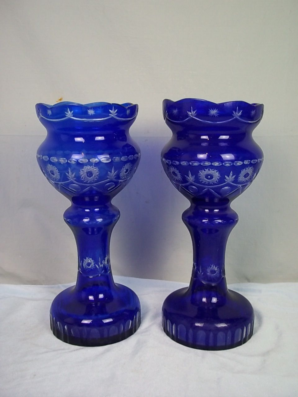 gallery cobalt images glass cut vase vintage blue crystal