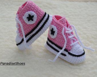 zapatos converse a crochet