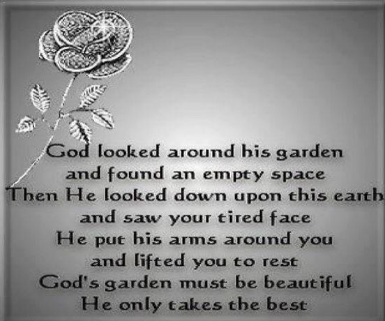 God only takes the best poem