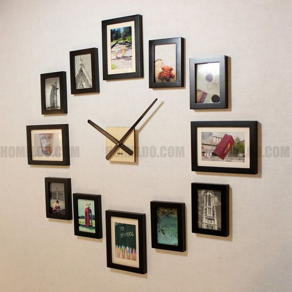Photo Picture Frame Wall Clock Modern 12 Frames On Wall Diy Frame Picture Frames