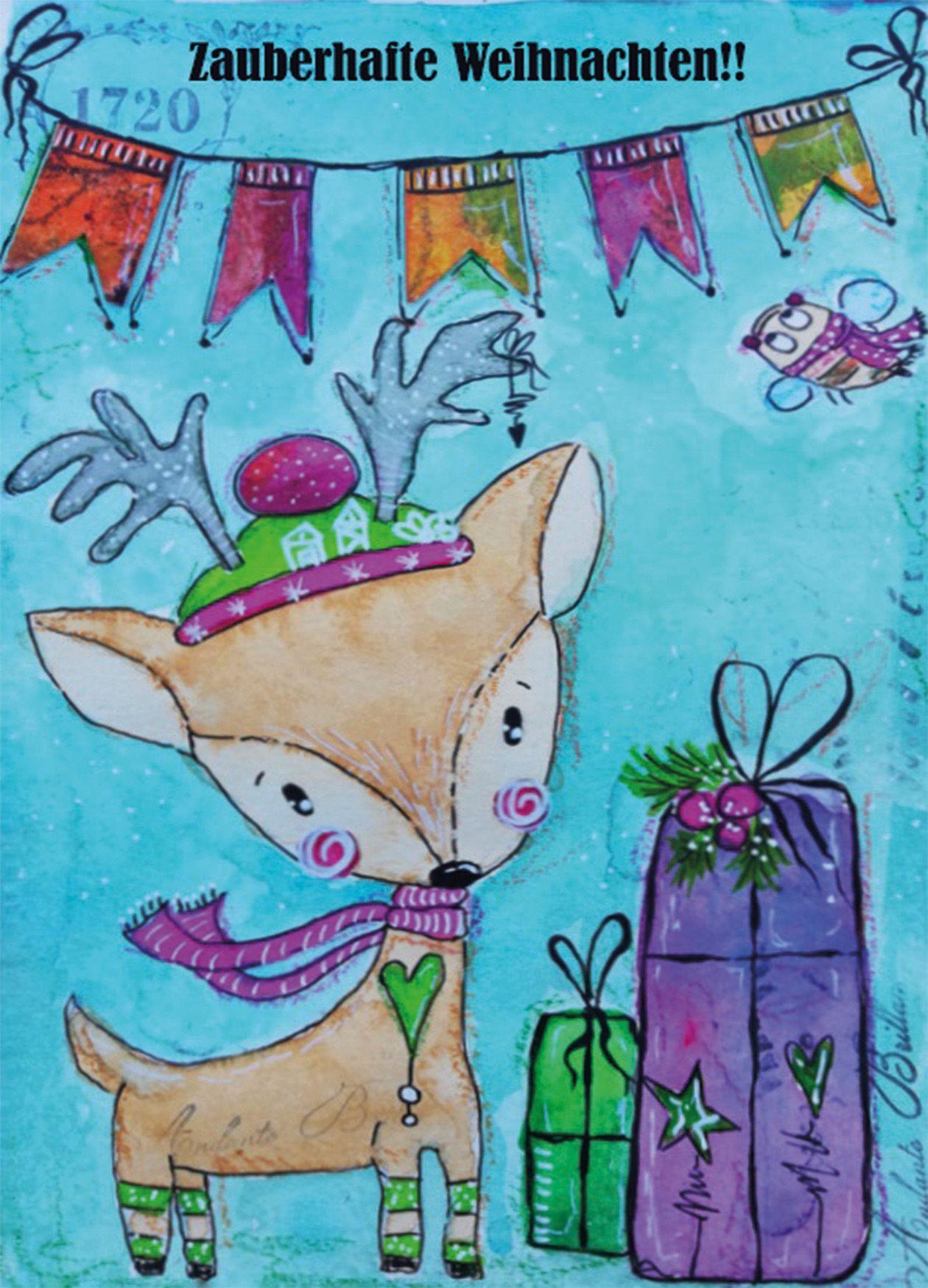 """3er weihnachtskarten set """"zauberhafte weihnachten"""