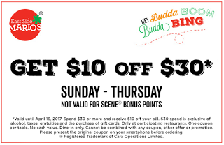 East Side Mario Rabais Quebec 10 Coupons Canada East Side Coupons