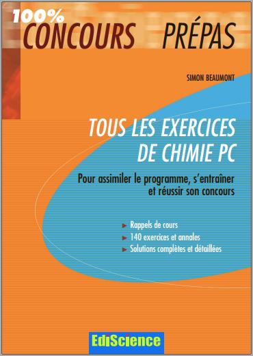 Telecharger Tous Les Exercices De Chimie Pc 100 Concours Prepas Pdf Gratuitement Physique Pie Chart