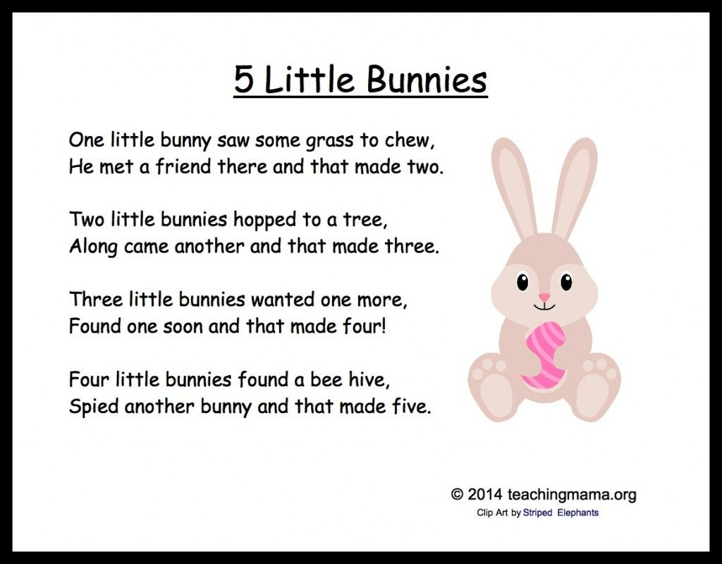 5 bunny chants for preschoolers easter songs easter and count