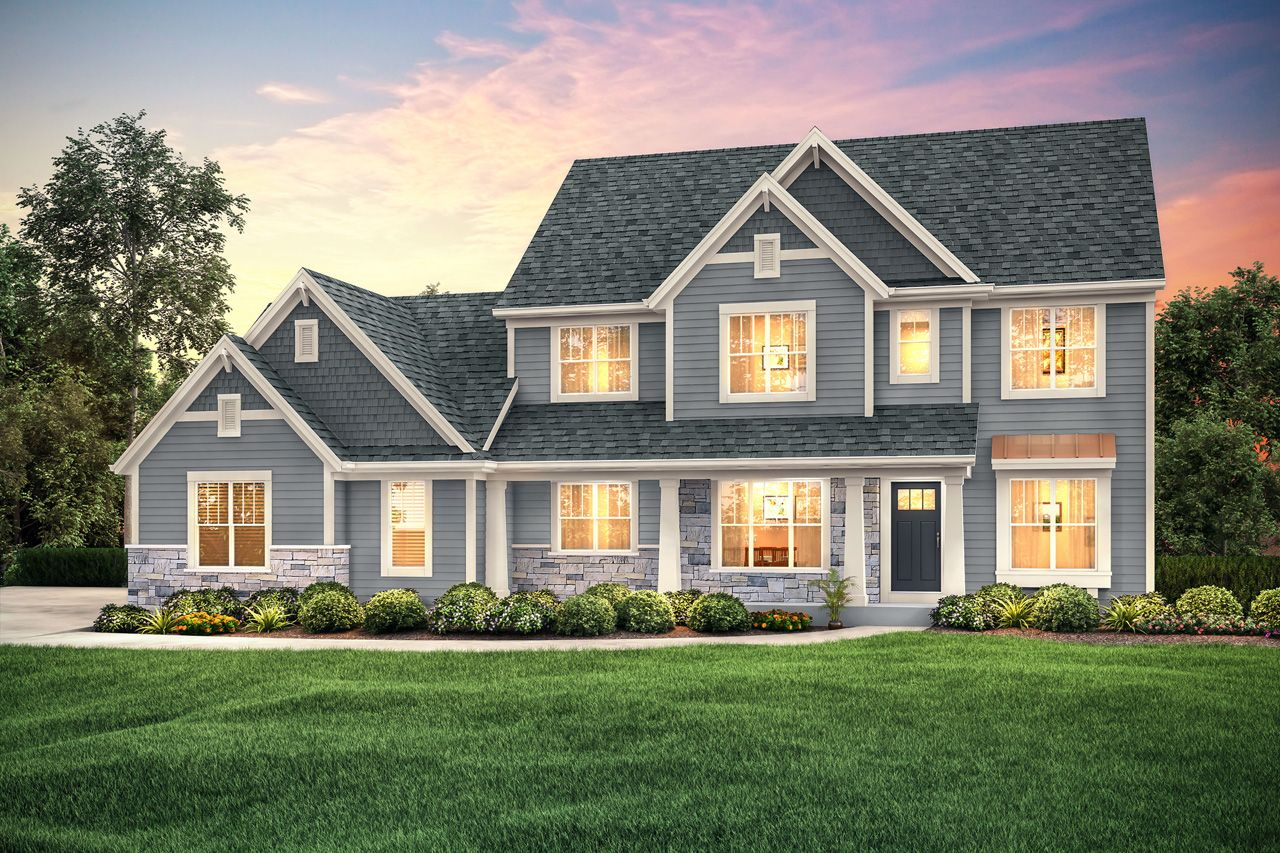 The Franklin Plan 2526 Arts Crafts 2 Story 2 526 Sq Ft 4 Bedroom 2 5 Bathroom New Homes Art And Craft Design Building