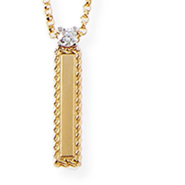 Roberto coin princess 18k yellow gold diamond initial necklace 950 roberto coin princess 18k yellow gold diamond initial necklace 950 liked on polyvore mozeypictures Gallery
