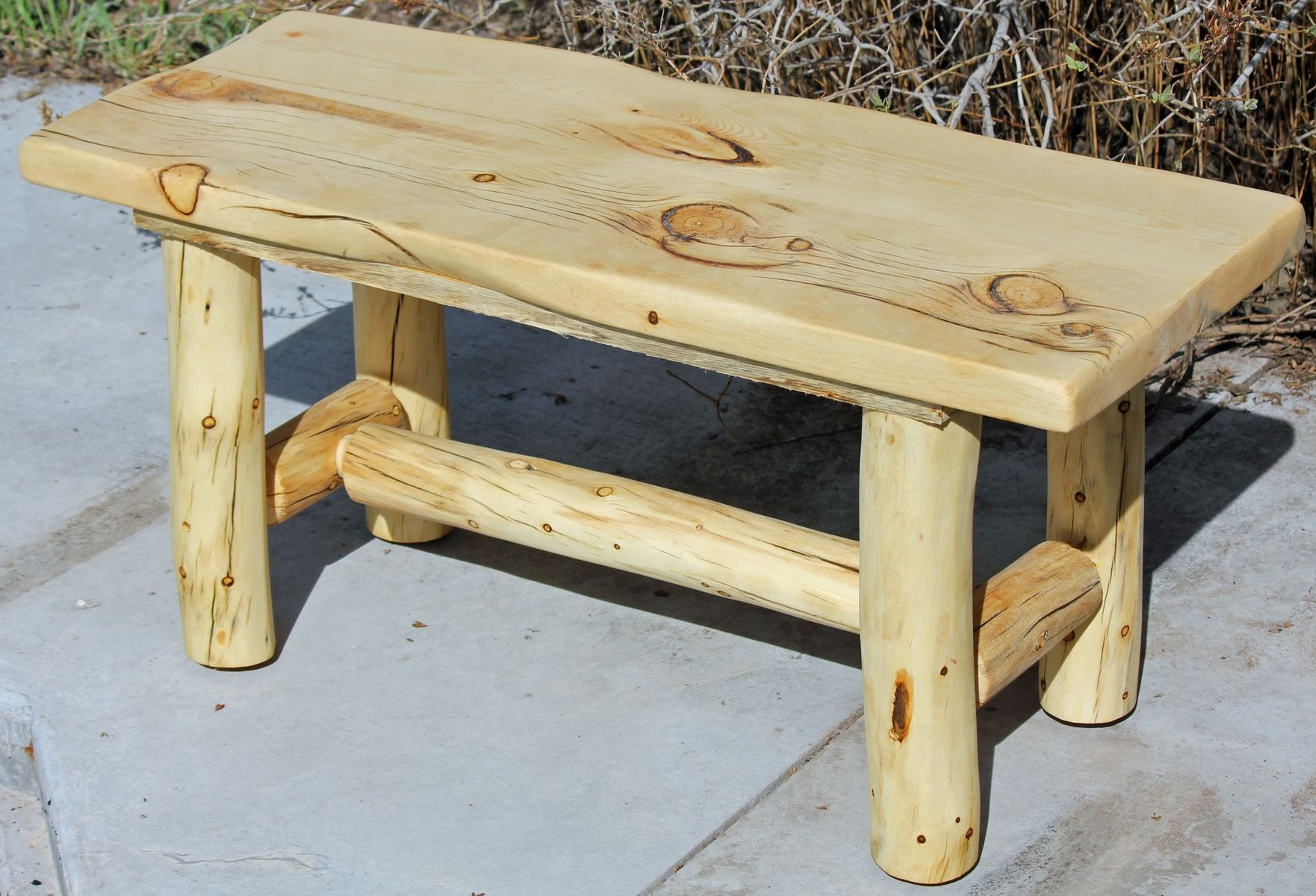 Custom Made Rustic Log End Tables Nightstands And Coffee Tables