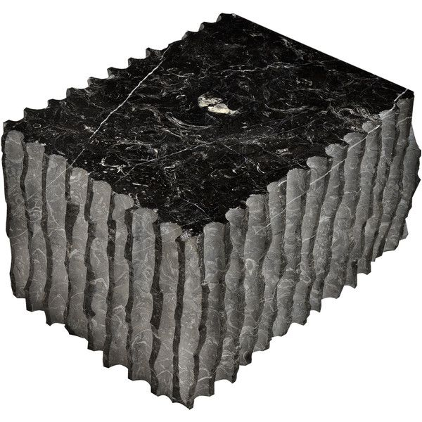 Giulio Lazzotti Fiorettato Marble Coffee Table 123 290 Rub Liked On Polyvore Featuring Home Furniture Tables Accent Black Half Circle