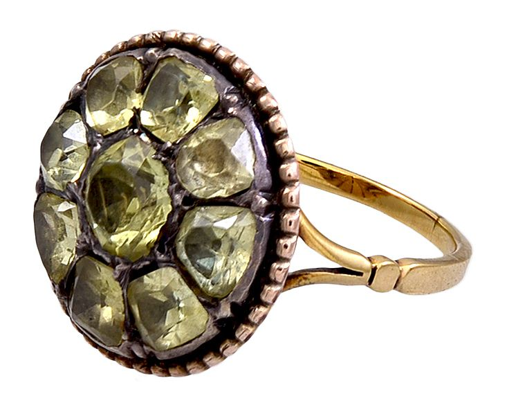 rings yellow ring chrysoberyl pin
