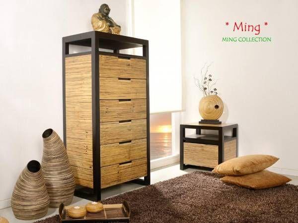 Schlafzimmer Bambus ~ Bambus schubladen kommode ming 6 schubladen bambusmöbel für dein