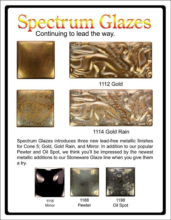 Metallic Gold Glaze Spectrum Glazes Beautiful Pottery