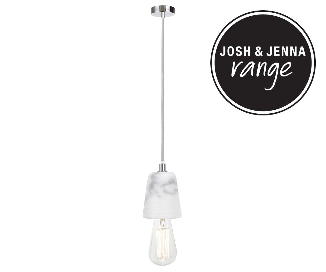 Beacon lighting ando light pendant with marble lampholder and