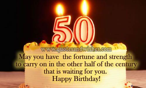 free 50th birthday quotes