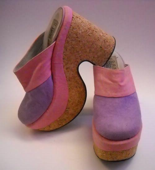 Vintage clogs, Platform clogs, 70s shoes