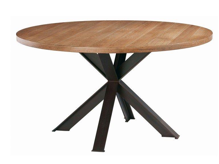 runder tisch aus holzfurnier syntaxe kollektion nouveaux classiques by roche bobois. Black Bedroom Furniture Sets. Home Design Ideas