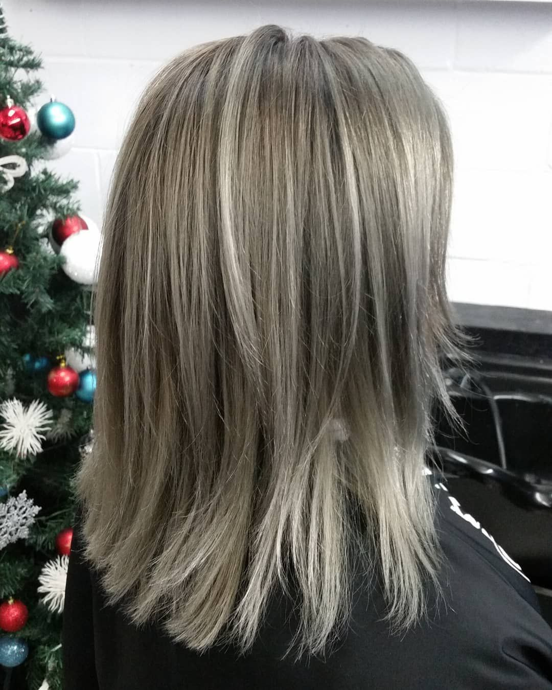 Haircut And Haircolor By Edismoz I M Dreaming Of A Silverhair Christmas She Is Ready For The Holidays Are Yo Hair Cuts Silver Hair Hair Color