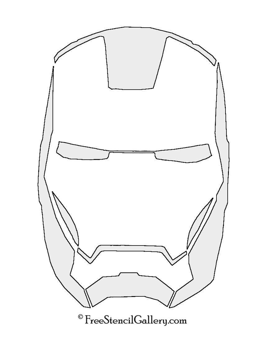 Iron Man Mask Stencil Iron Man Pumpkin Iron Man Mask Iron Man