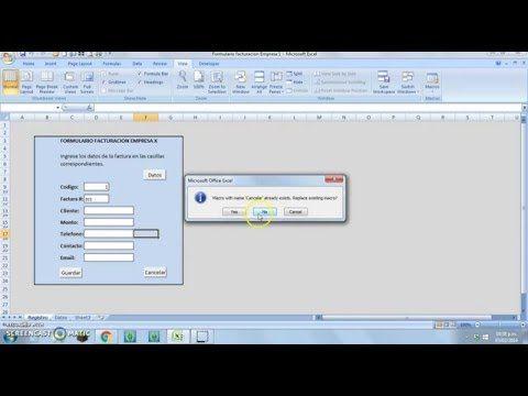 la mejor manera de crear un formulario o base de datos de clientes con macros en excel youtube