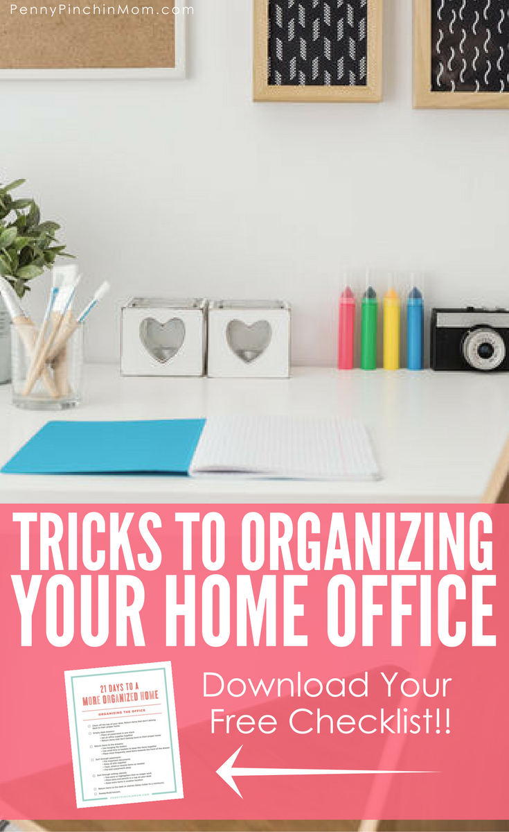 Get Your Home Office Organizing Checklist! | Office works, Free ...
