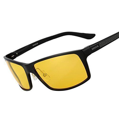 f106b396463 Night Driving Glasses HD Anti Glare Polarized Lens Night Vision Fashion  Sunglasses