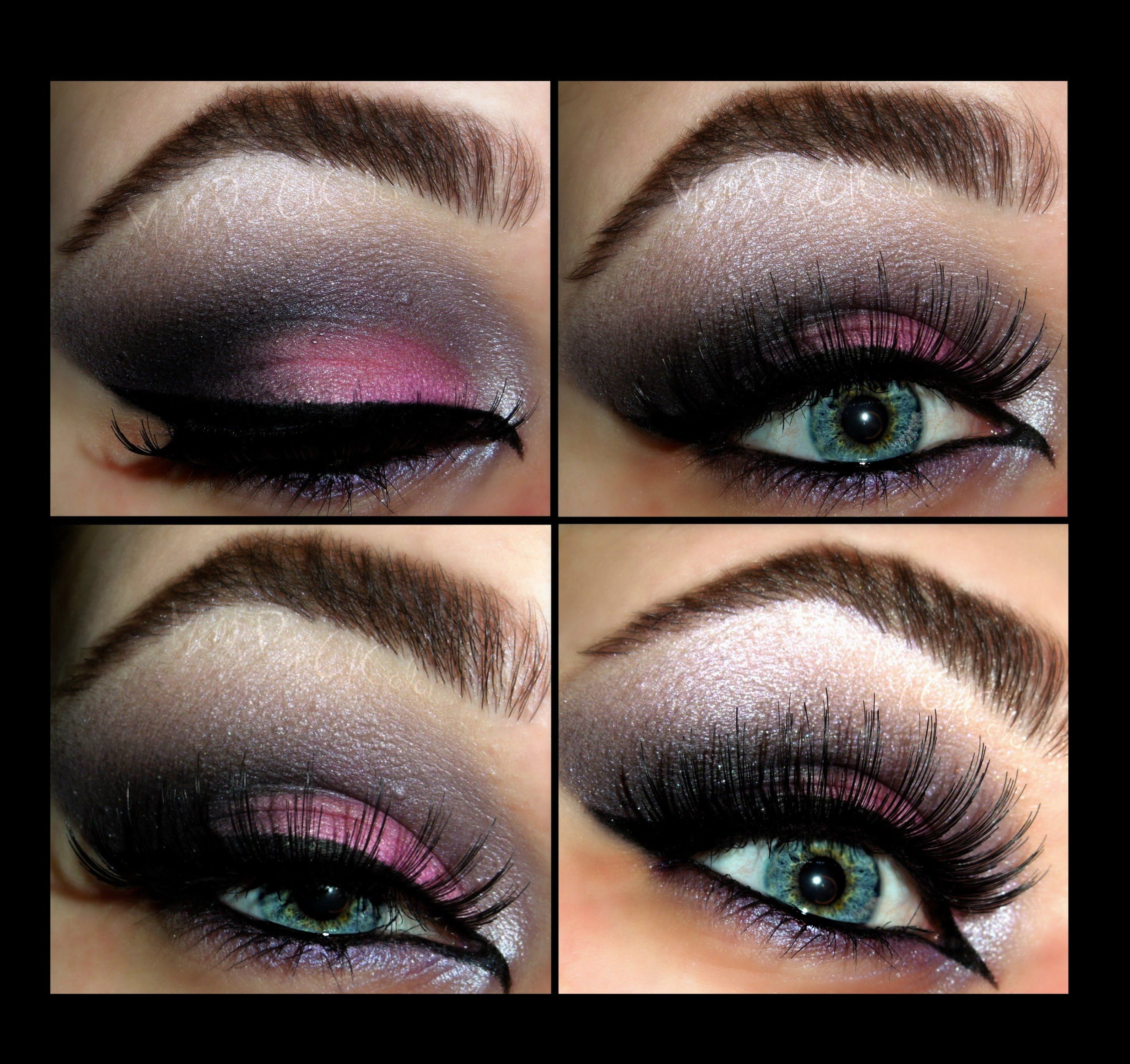 Dramatic Pink Smokey Eye