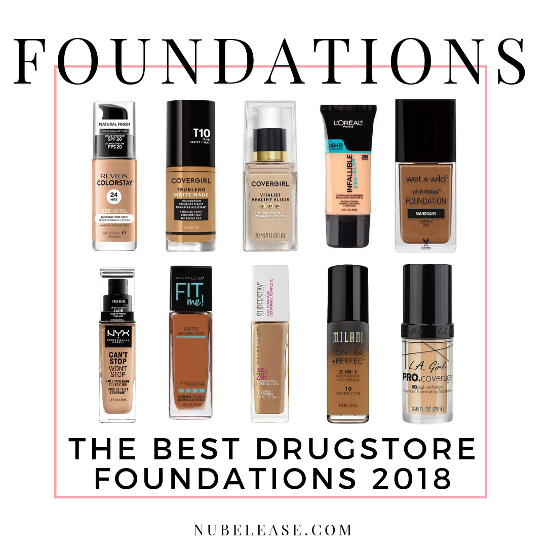 The Best Drugstore Foundations 2018 Best Drugstore Foundation Foundation For Dry Skin Drugstore Foundation
