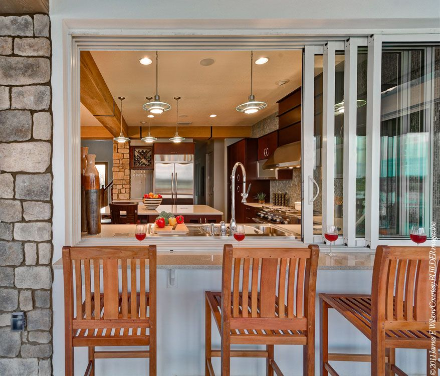 Restaurant Kitchen Pass: Window Opening From Outdoors Into The Kitchen.