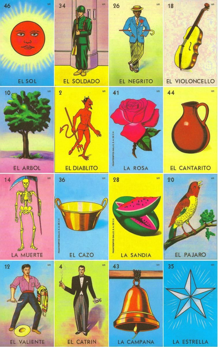This is a picture of Soft Printable Loteria Mexicana
