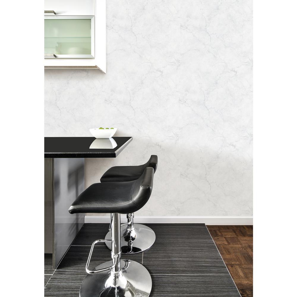 Nuwallpaper Carrara Marble Peel And Stick Vinyl Strippable Wallpaper Covers 30 75 Sq Ft Nu2090 The Home Depot In 2021 Peel And Stick Wallpaper Nuwallpaper Home Decor