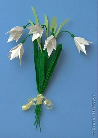 Flowers In Origami Snowdrop Lana Coulter Paper Flowers Craft Paper Flower Wreaths Paper Flowers