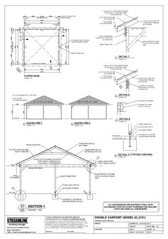 Download free carport plans building carport plans for 2 car carport plans