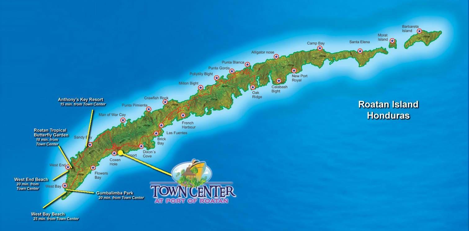roatan map roatan map vacation roatan bay islands