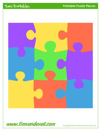 A blank puzzle template for making your own puzzle Preschool - blank puzzle template