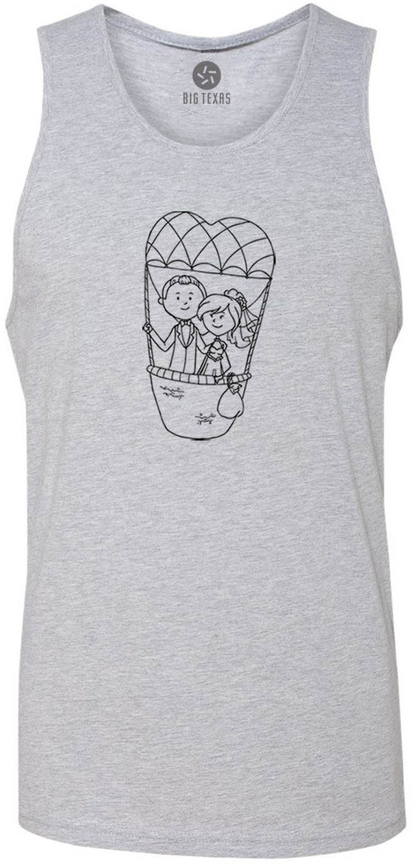 Up in the Clouds (Black) Tank-Top T-Shirt