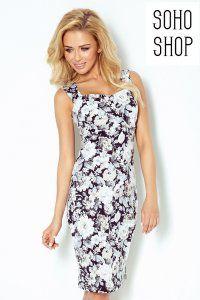 Sukienka Numoco Z Wycieciem Na Plecach Kwiaty 6341478403 Oficjalne Archiwum Allegro Floral Print Dress Dresses White Floral Print Dress