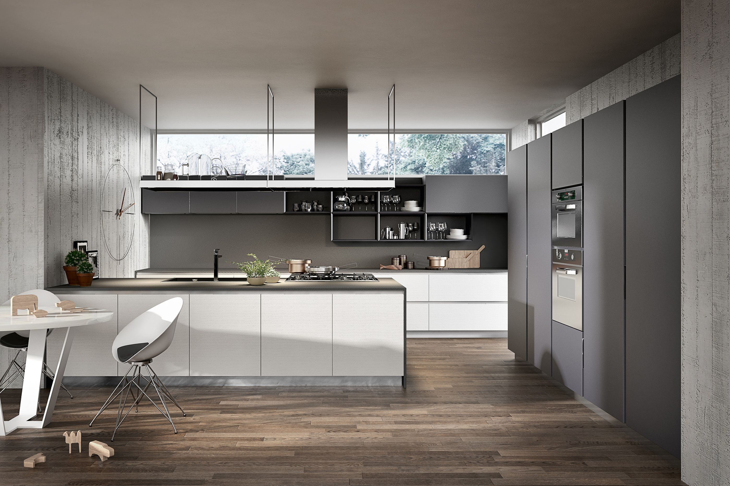 Best Armony Cucine Model Delta Grey Kitchen Designs 400 x 300