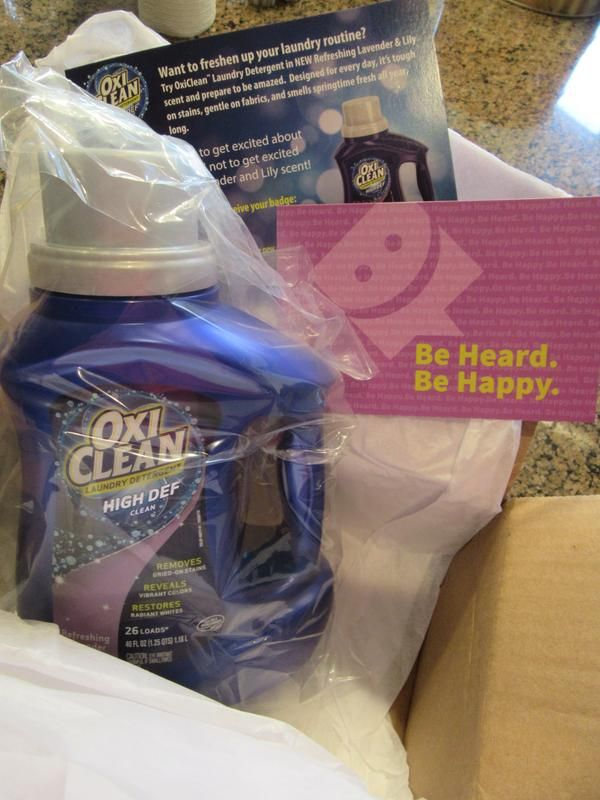 Freesample Smiley360 Oxiclean Laundry Detergent Refreshing