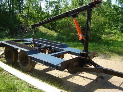Fast Log loading rig on my trailer...under $1000   Portable Sawmills & Forestry Equipment - Norwood Sawmills