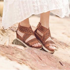 418b7f3d0 Bussola Pamela Strappy Cut Out Sandal in Brandy Nubuck - Summer Style  #EBStyle
