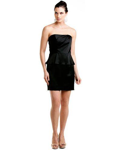 A.B.S. by Allen Schwartz Black Peplum Dress