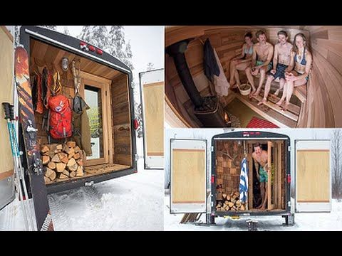 The Sauna Stoke 2.0 - The Portable Sauna On Wheels (with Room for You and Five Friends)