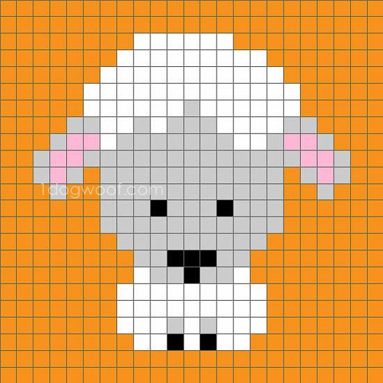 Zoodiacs Sheep C2C Crochet Graph - Schapen, Haken en Strijkkralen