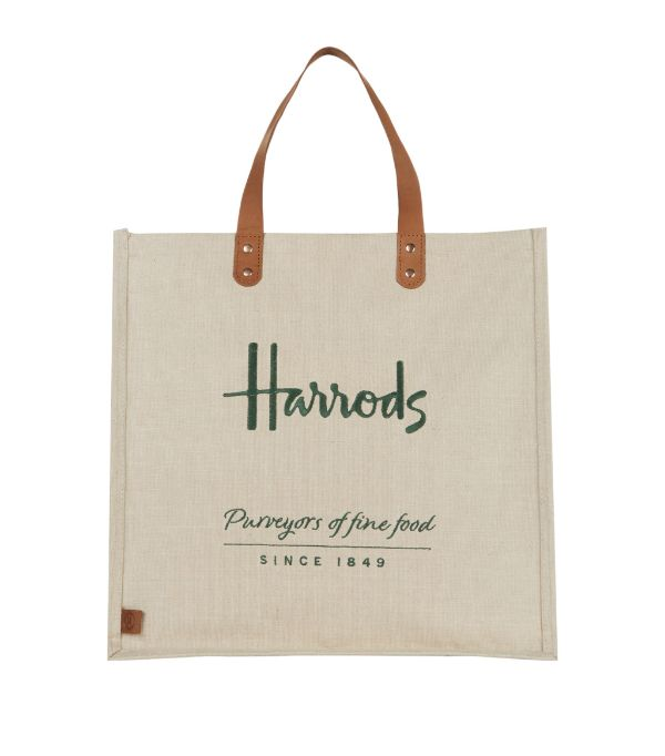 Harrods Embroidered Jute Grocery Shopper Bag Harrods Com In 2020 Shopper Bag Grocery Shopper Harrods