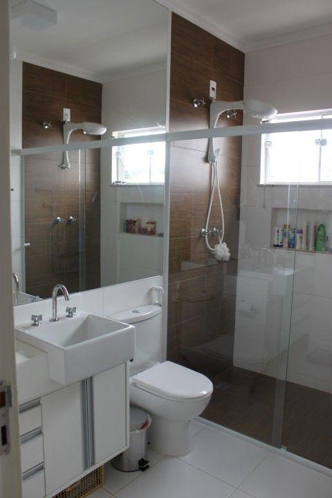 Construindo nossa casinha em Gogo City Inspirações para o BANHEIRO  BANHEIR -> Banheiro Pequeno Com Piso Amadeirado