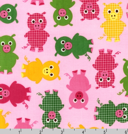 Crafters Vision - Robert Kaufman - Urban Zoologie - Bright Pigs Cotton Fabric , $8.60 (http://www.craftersvision.com/robert-kaufman-urban-zoologie-bright-pigs-cotton-fabric/)