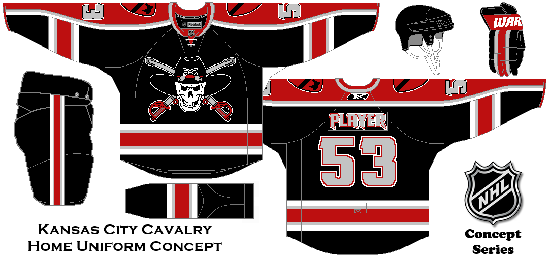 Nhl Expansion Series Concept Kansas City Cavalry Home Uniform Hockey Jersey Hockey Uniform
