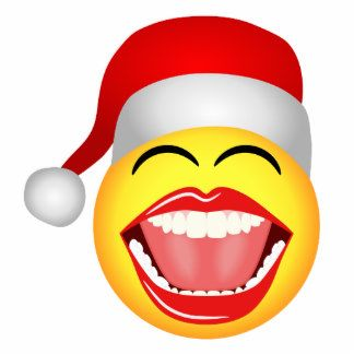 Christmas Santa Smiley Fun Funny Photosculpture Standing Photo Sculpture Smiley Face Gifts Smiley Christmas Emoticons