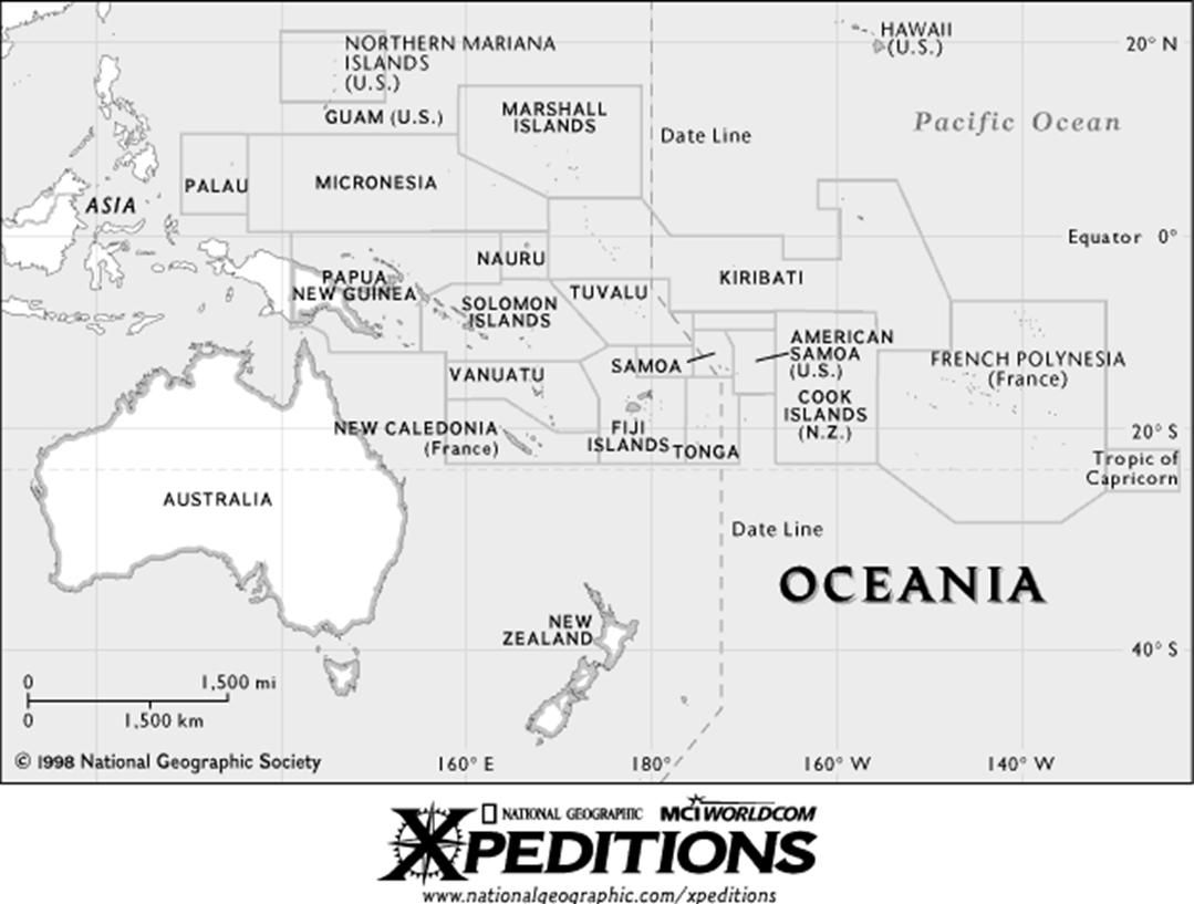 Australia Map Printable
